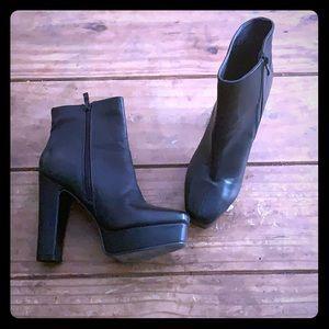 Black Beston Platform High Heel Ankle Boots